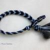 Bracelet été indien épi de blé dégradé de bleus et gris