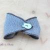 Bracelet en Jean en forme de noeud et biais de Liberty Toria bleu