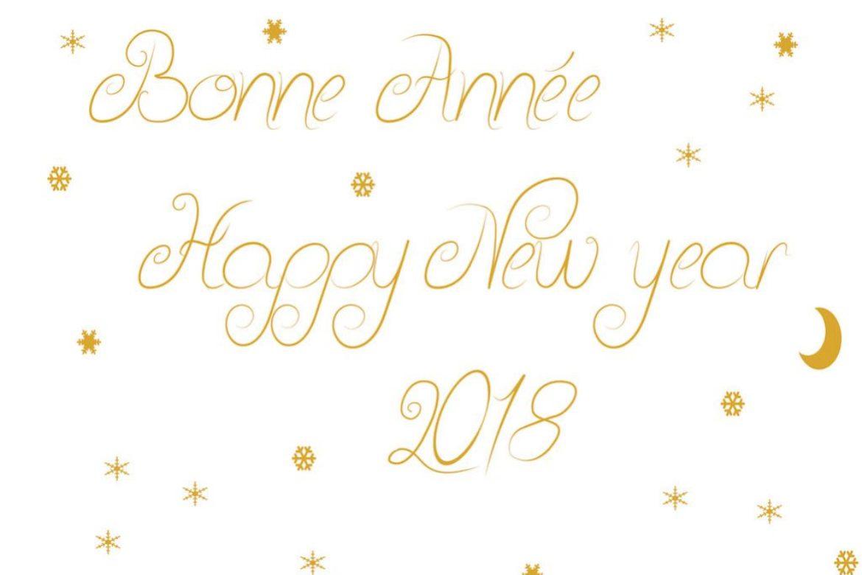 ** Bonne année et meilleurs voeux 2018 **