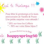 Pour fêter le nouveau printemps souriant :-)