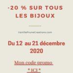 Promo de Noël sur les Bijoux